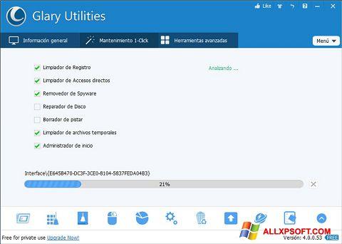 Screenshot Glary Utilities Windows XP