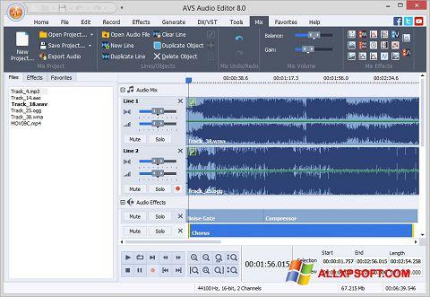 Screenshot AVS Audio Editor Windows XP