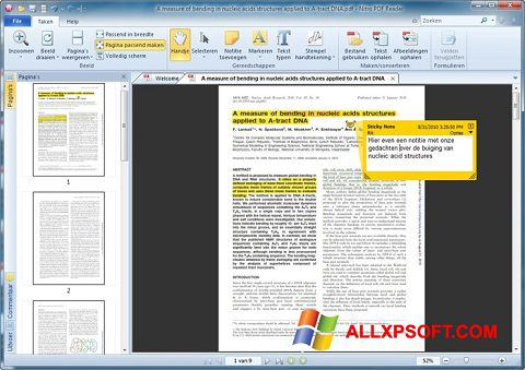Screenshot Nitro PDF Reader Windows XP