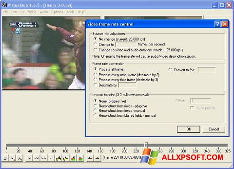 Screenshot VirtualDubMod Windows XP