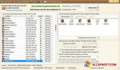 Screenshot Hide ALL IP Windows XP