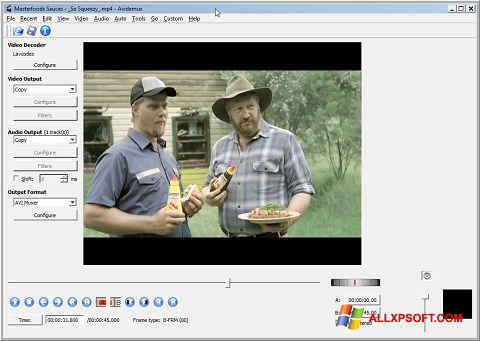 Screenshot Avidemux Windows XP