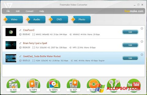 Screenshot Freemake Video Converter Windows XP