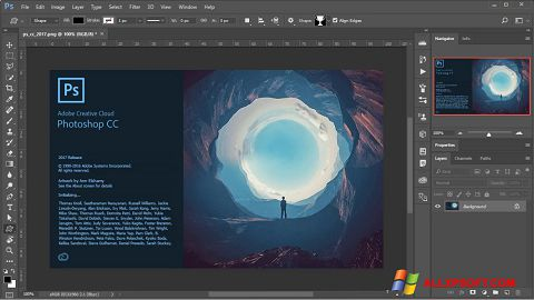Screenshot Adobe Photoshop Windows XP