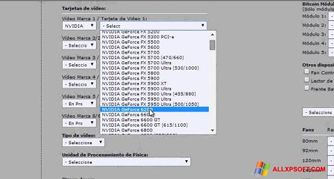 Screenshot Power Supply Calculator Windows XP