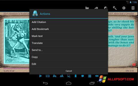 Screenshot AlReader Windows XP