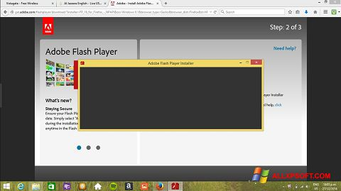 Screenshot Adobe Flash Player Windows XP