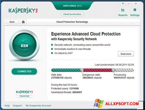 Screenshot Kaspersky Windows XP