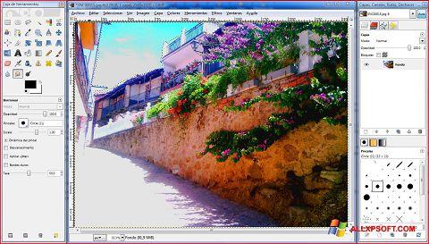 Screenshot GIMP Windows XP