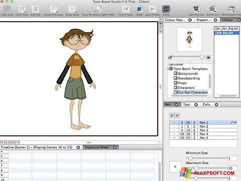 Screenshot Toon Boom Studio Windows XP