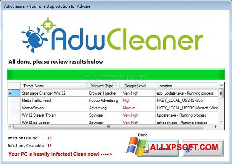 Screenshot AdwCleaner Windows XP