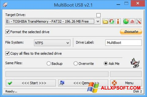Screenshot Multi Boot USB Windows XP