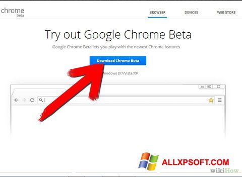 Screenshot Google Chrome Beta Windows XP