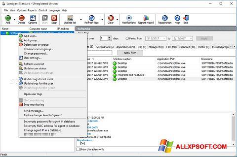 Screenshot LanAgent Windows XP