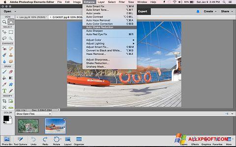 Screenshot Photoshop Elements Windows XP