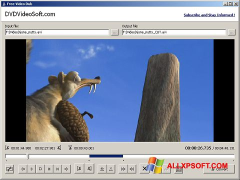 Screenshot Free Video Dub Windows XP