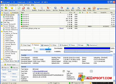 Screenshot BitComet Windows XP