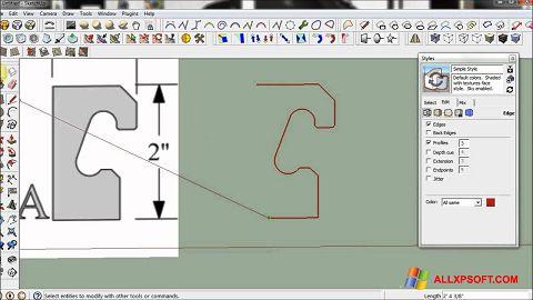 Screenshot SketchUp Windows XP