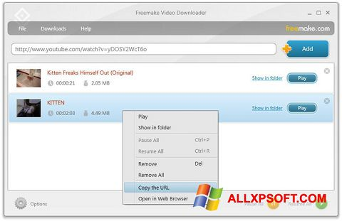 Screenshot Freemake Video Downloader Windows XP