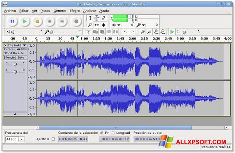 Screenshot Audacity Windows XP
