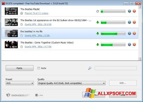 Screenshot Free YouTube Download Windows XP